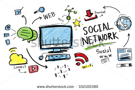 Social Network Chatting Online Community Internet Facebook Cyber ... clipart free