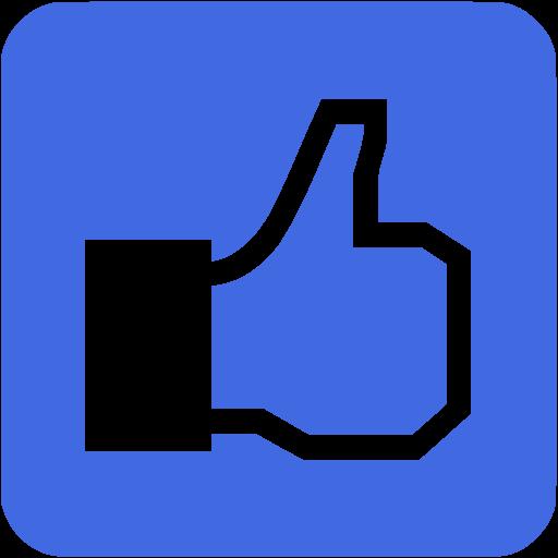 Royal blue facebook like 3 icon - Free royal blue like icons image free stock