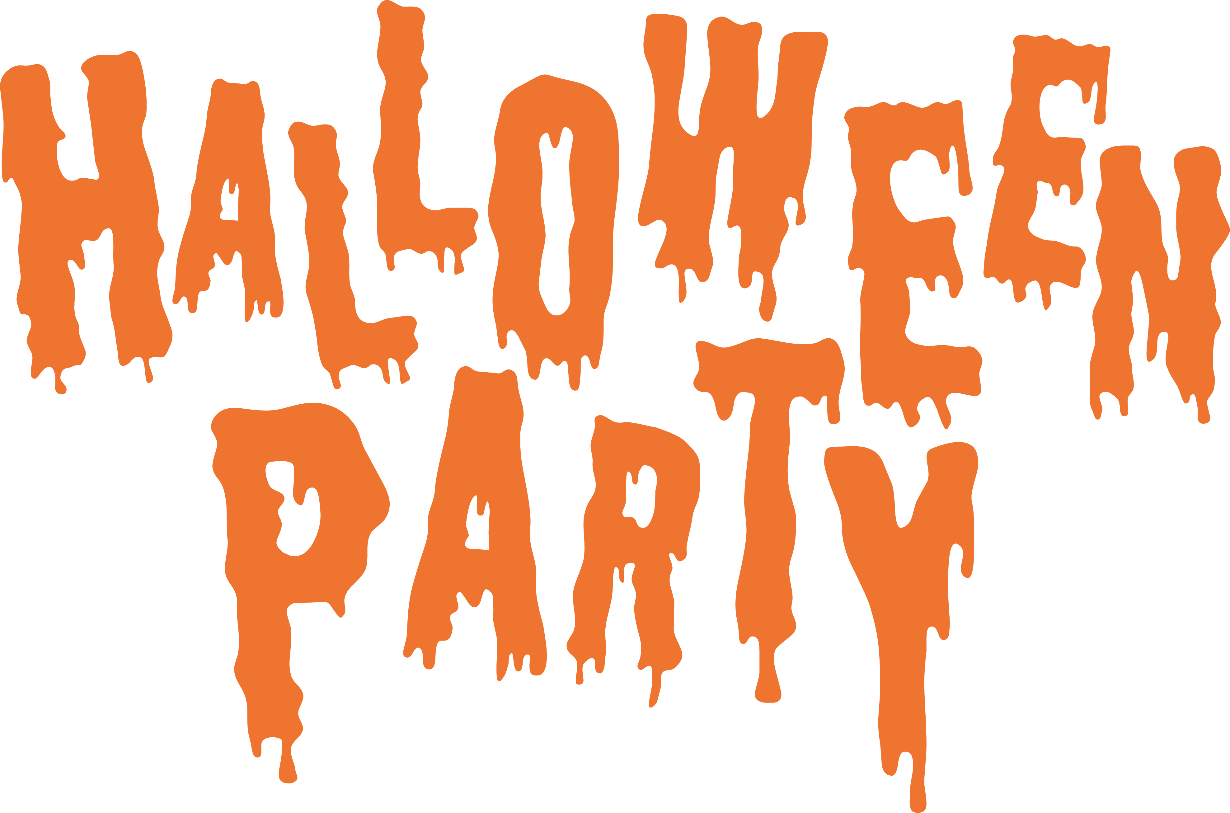 Halloween party clipart images svg black and white library Halloween Party Clip art - Bloody Halloween party 3952*2612 ... svg black and white library