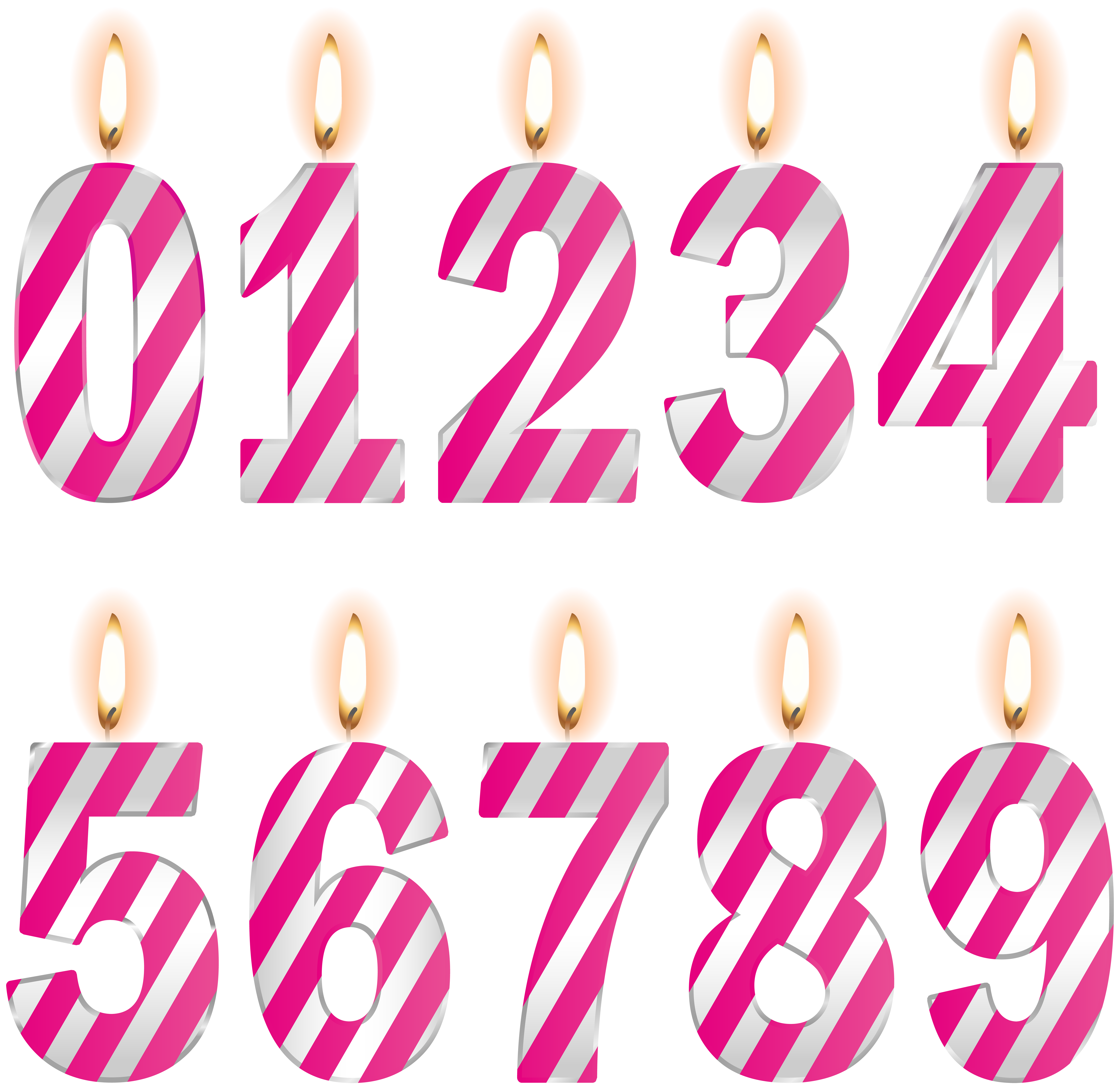 Facebook clipart halloween birthday graphic freeuse library Image file formats Lossless compression - Numbers Birthday Candles ... graphic freeuse library