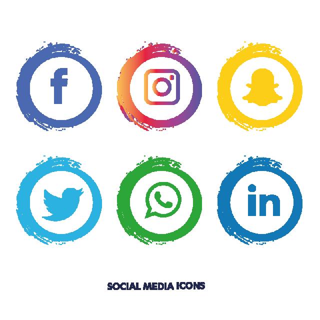 Facebook clipart vector jpg freeuse download Social media icons set. facebook, instagram, Whatsapp, PNG and ... jpg freeuse download