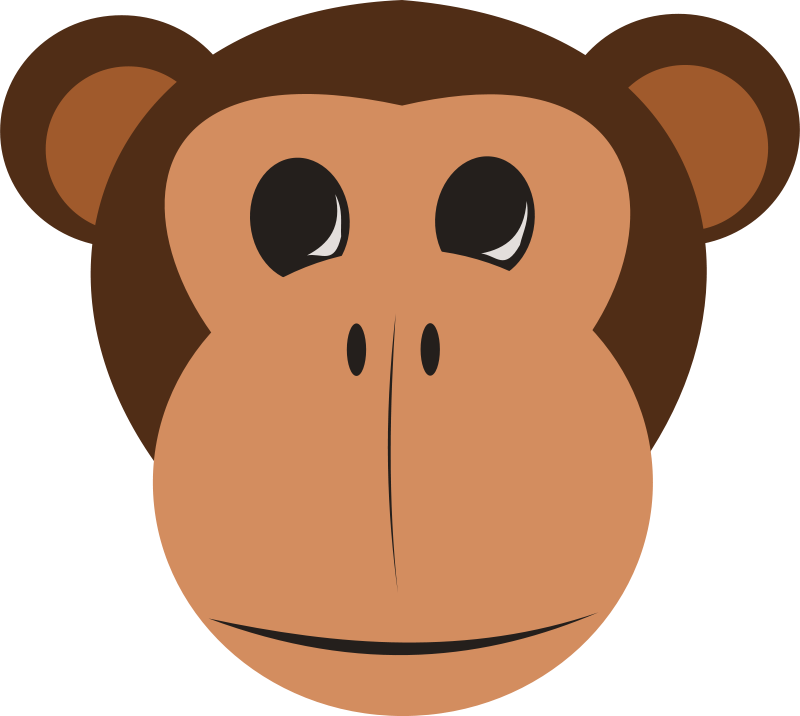 Curious George Monkey Facebook Clip art - Safari Monkey Cliparts 800 ... clipart royalty free library