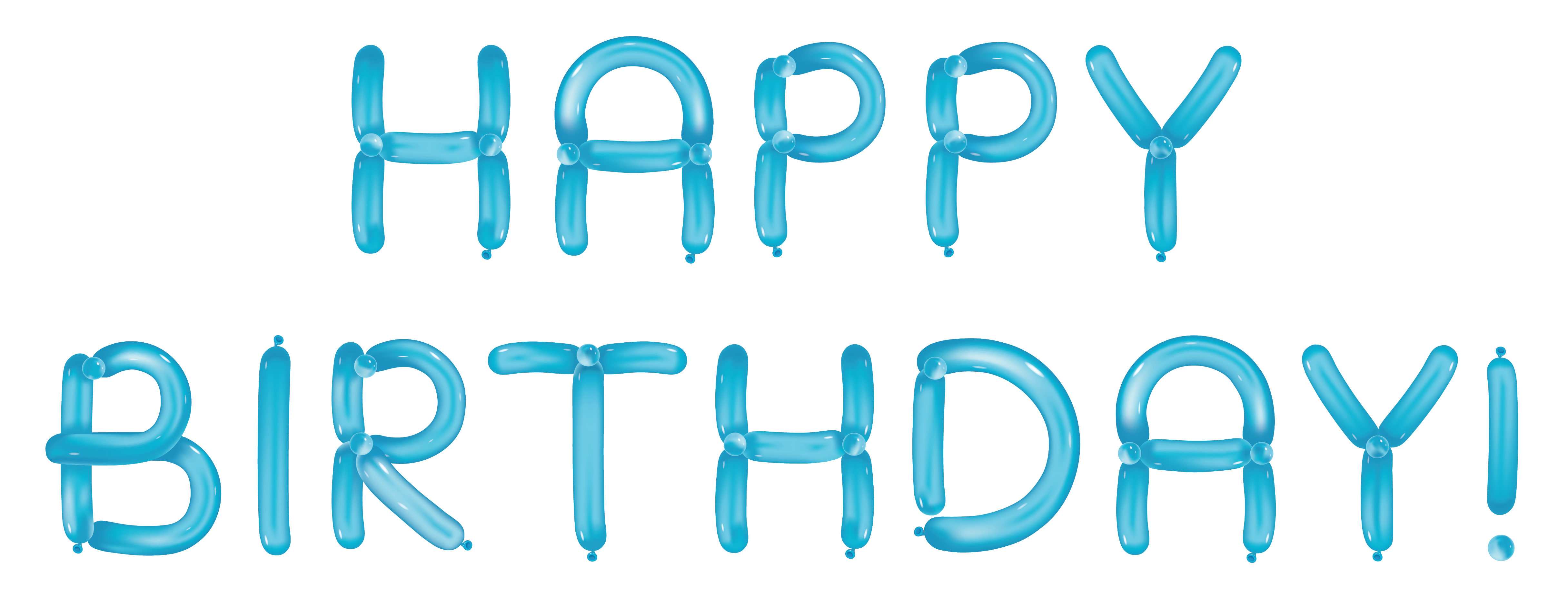 Blue snowflake free banner clipart clip art free download Happy Birthday with Blue Balloons Transparent Clipart | Gallery ... clip art free download