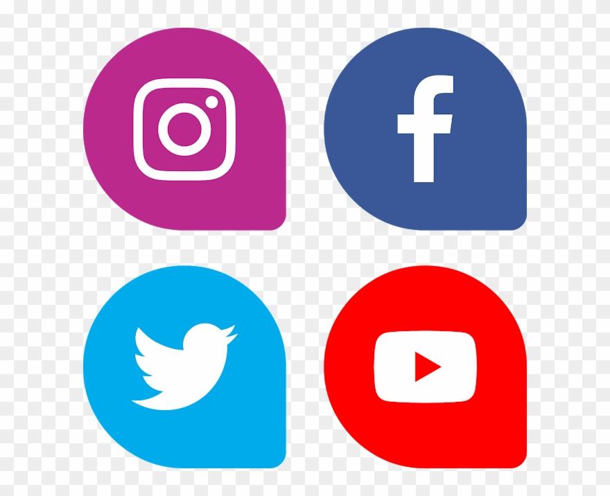 Facebook instagram youtube logo clipart image freeuse Download Bottons Facebook Instagram Twitter Youtube - Social Media ... image freeuse
