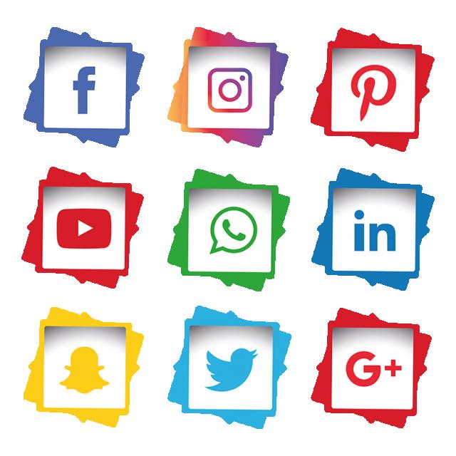 Set . Free social media icons vector clipart