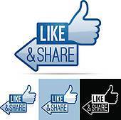Facebook like clip art clipart free Like Facebook Like And Recommend Clipart - Clipart Kid clipart free