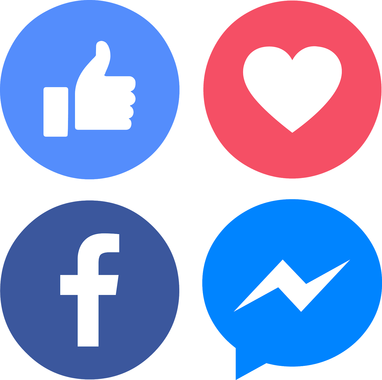 Facebook like love clipart banner royalty free stock download icons facebook messenger like love vectors - el fonts vectors banner royalty free stock