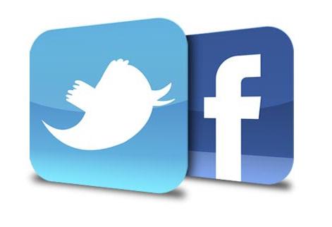 Facebook logo for website clipart freeuse library Facebook & Twitter Logo - ClipArt Best freeuse library