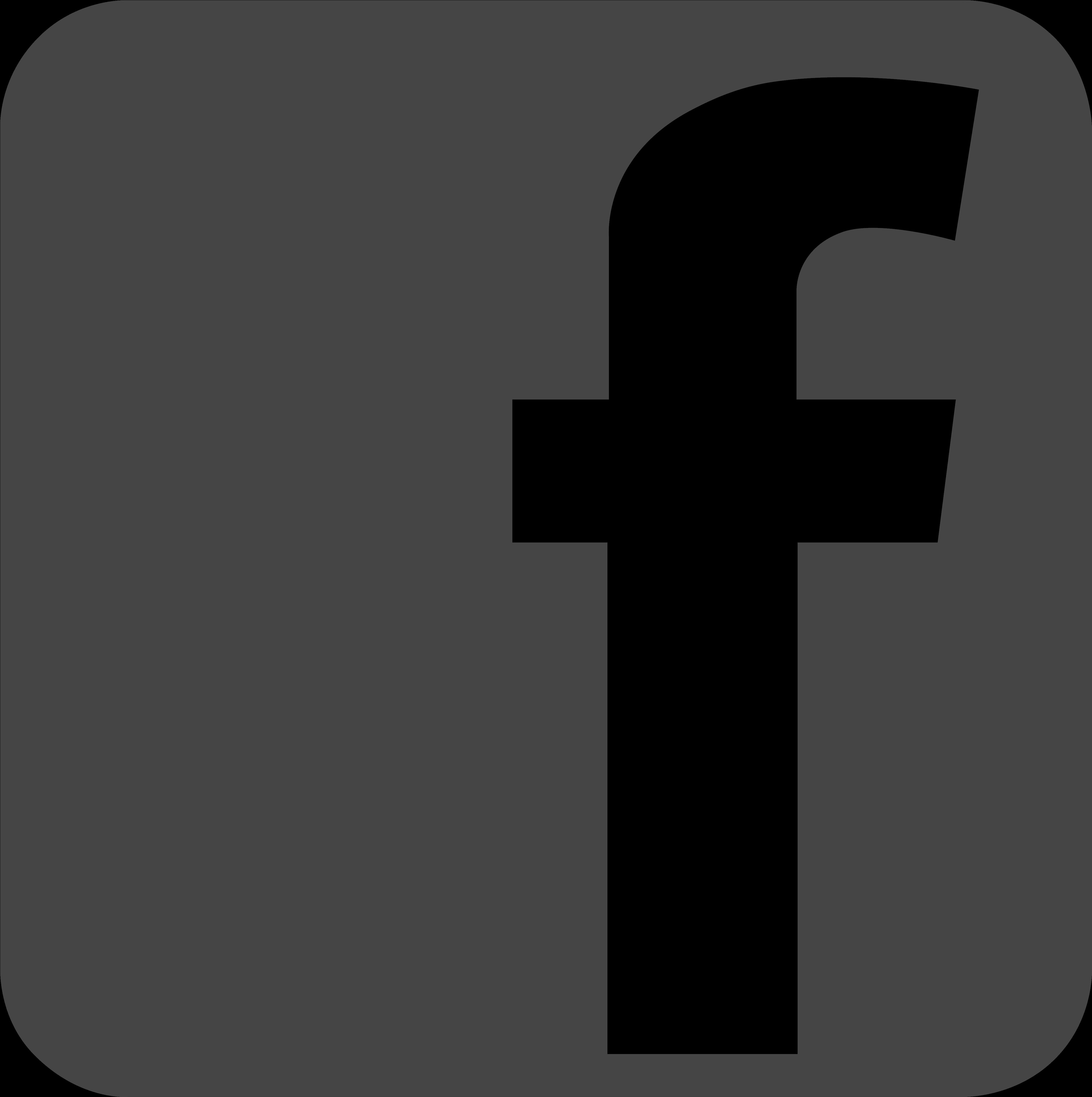 Facebook logo hd clipart royalty free stock HD Free Download Social Icons - Facebook Logo Dark Grey , Free ... royalty free stock