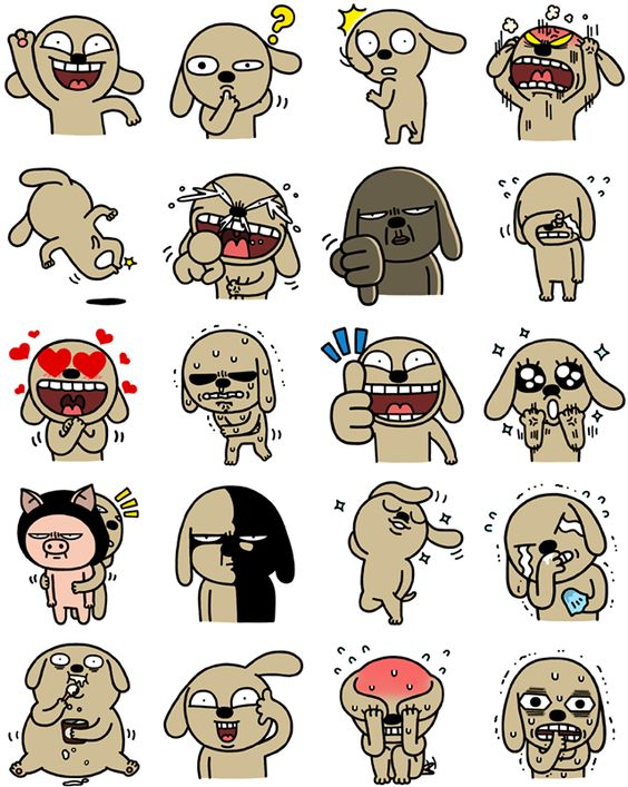 Hello Brown Facebook Sticker by Hozo for Facebook Messenger. Brown ... vector stock