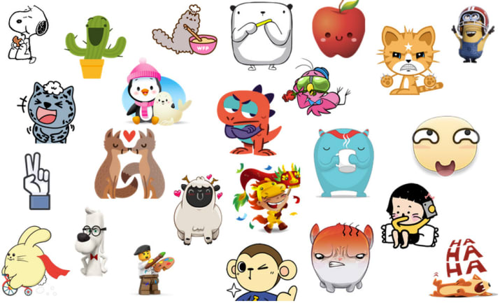 Facebook messenger clipart meanings png freeuse library The Definitive Ranking Of Every Facebook Sticker Pack png freeuse library