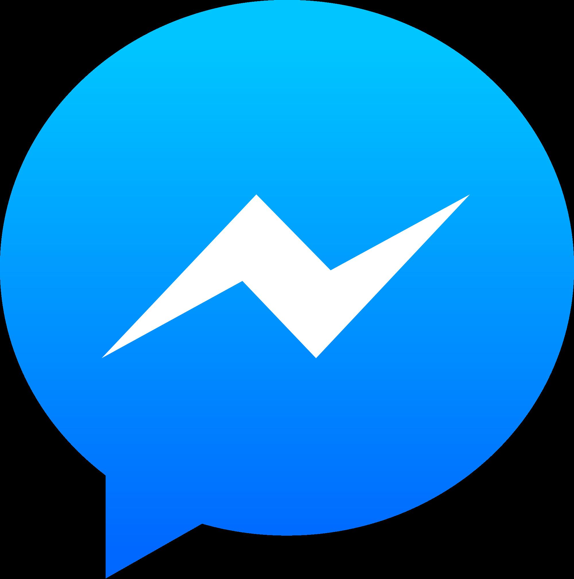 Messenger Logo transparent PNG - StickPNG banner black and white download
