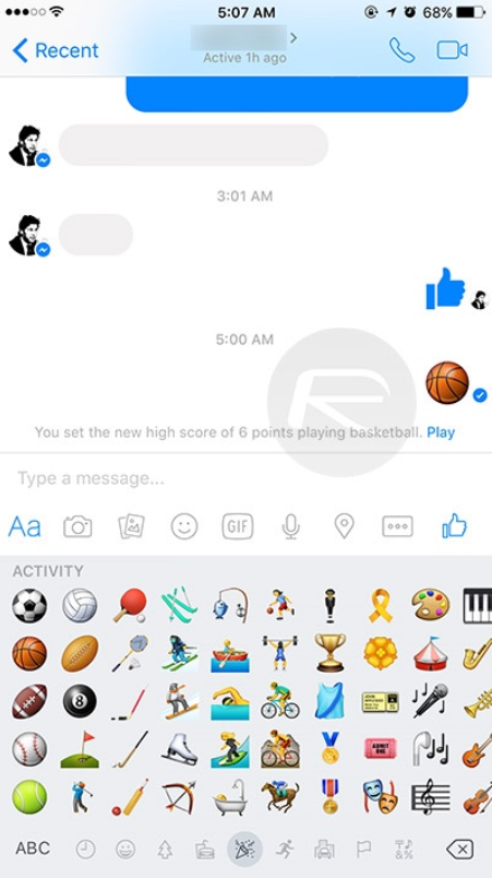 Facebook messenger phone clipart banner black and white library Facebook Messenger for iOS and Android sports hidden basketball game banner black and white library