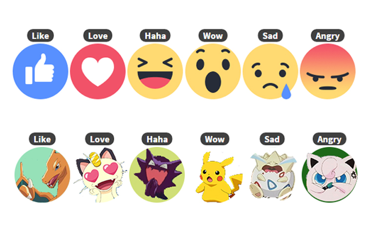 Facebook reactions wow clipart svg stock Don\'t like the new Facebook Reactions? Swap them with Pikachu or ... svg stock