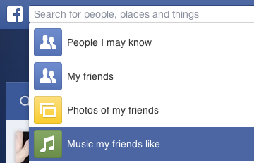 Facebook search vector library How To Use Facebook Graph Search Today to Find Music | Evolver.fm vector library