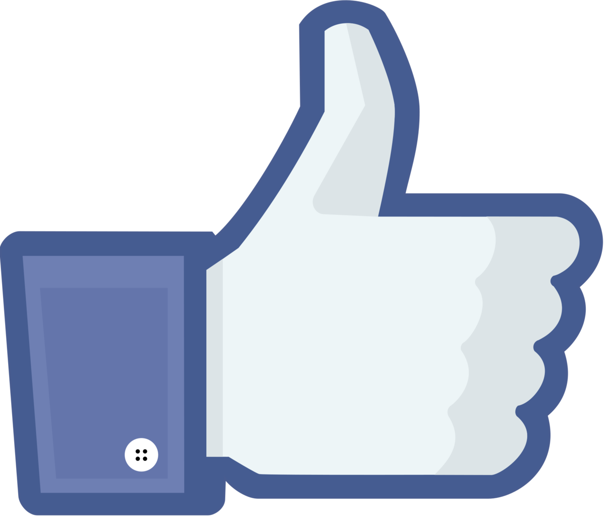 Facebook thumbs up clipart image royalty free stock Like button - Wikipedia image royalty free stock
