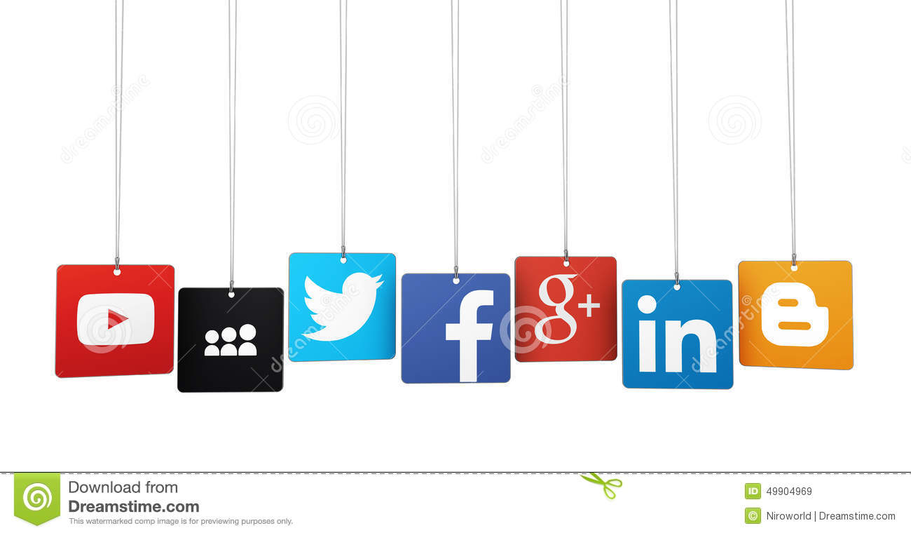 Facebook twitter clipart graphic free Social Media Logotypes Editorial Stock Image - Image: 49904969 graphic free