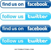 Facebook twitter clipart vector library library Facebook twitter clipart - ClipartFest vector library library