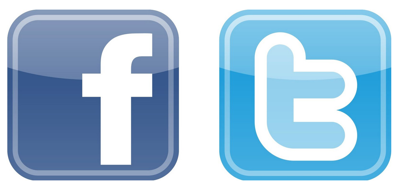 Facebook twitter icon clipart picture freeuse stock Facebook And Twitter Logo - ClipArt Best picture freeuse stock