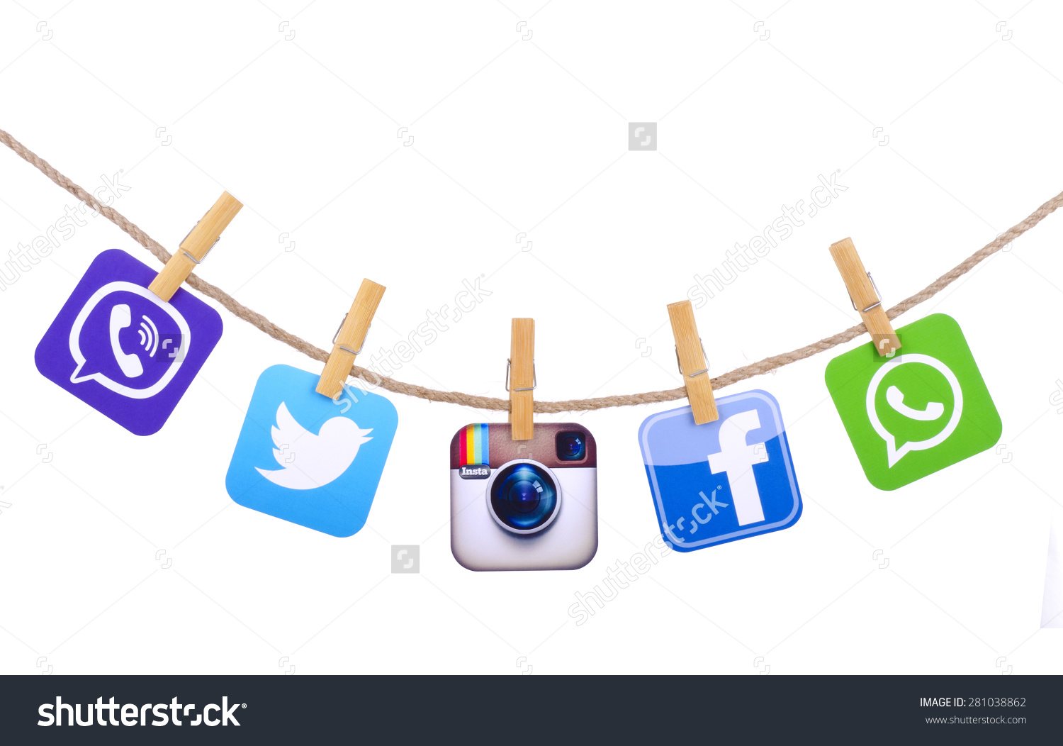 Facebook twitter instagram clipart svg free library Kiev Ukraine May 19 2015 Popular Stock Photo 281038862 - Shutterstock svg free library