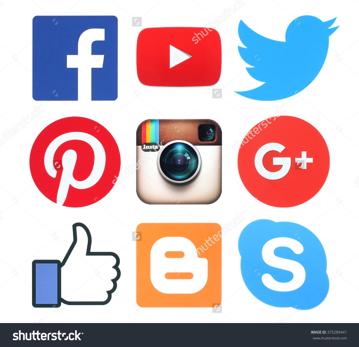 Facebook twitter instagram clipart vector freeuse download Kiev Ukraine February 8 2016collection Popular Stock Photo ... vector freeuse download