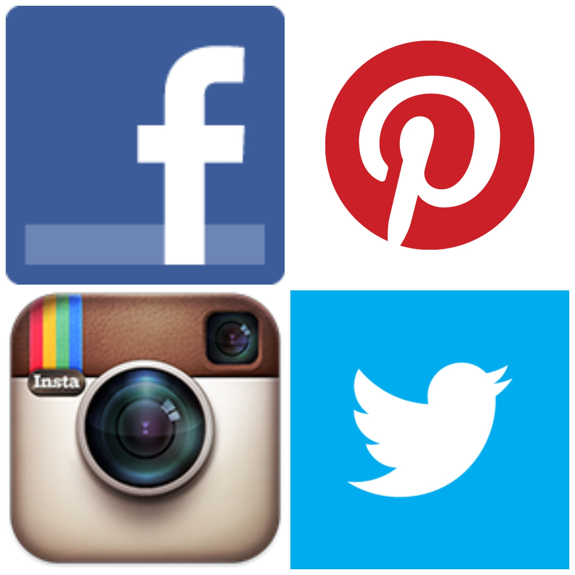 Facebook twitter instagram clipart clipart stock Icon clipart facebook and instagram - ClipartFest clipart stock