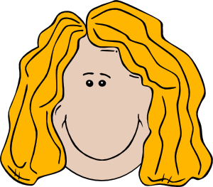 Faces clipart cartoon transparent Lady Face Cartoon Clip Art at Clker.com - vector clip art online ... transparent