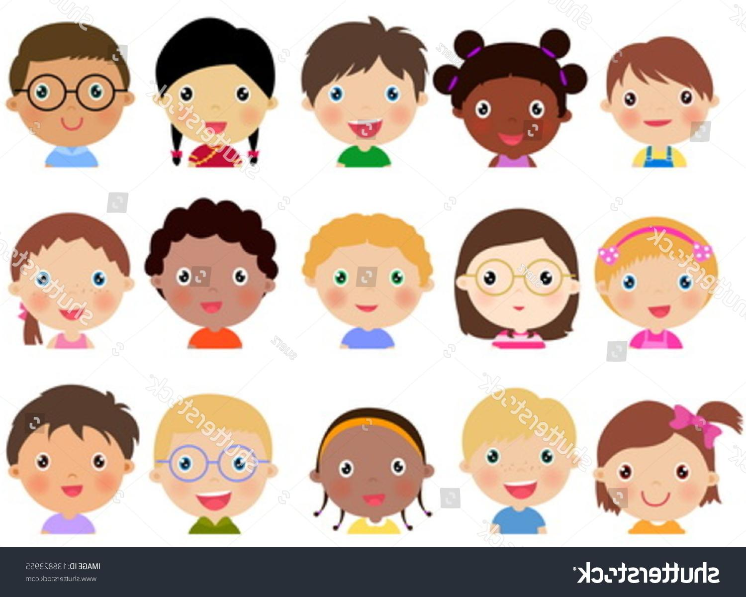 Faces vector clipart svg royalty free library Best Free Child Face Vector Pictures » Free Vector Art, Images ... svg royalty free library