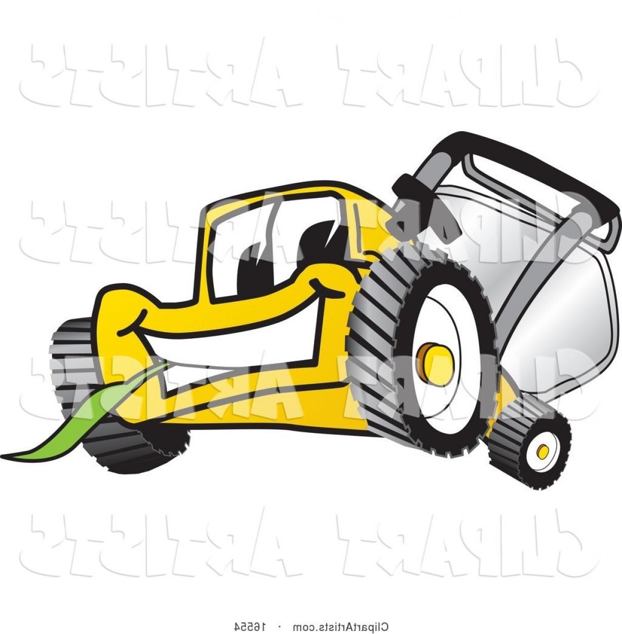 Facing clipart clipart transparent library Vector Clipart Yellow Lawn Mower Mascot Cartoon Character Facing ... clipart transparent library
