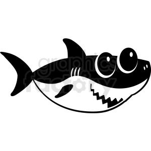 Facing clipart transparent black and white baby shark cut file facing right clipart. Royalty-free  clipart # 409234 transparent