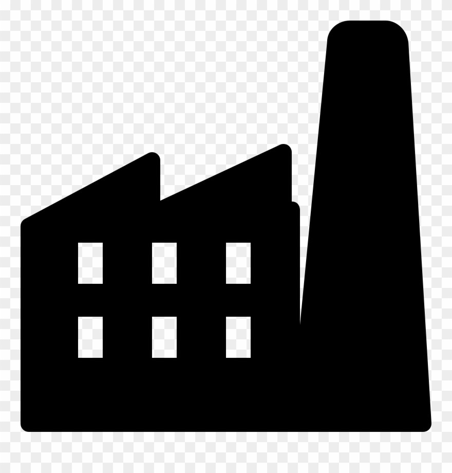 Factory system clipart svg black and white Factory Clipart Factory System - Png Download - Clipart Png Download ... svg black and white