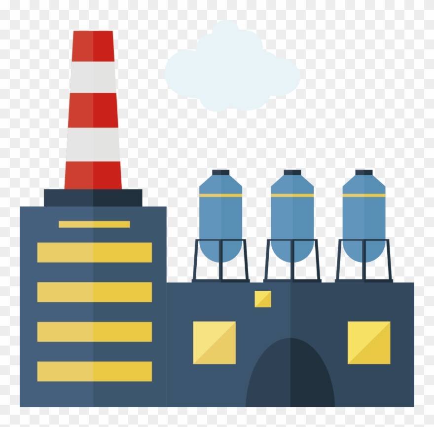 Factory vector clipart clipart royalty free library Factory Creative Vector Design Chimney Icon - Factory Vector Png ... clipart royalty free library