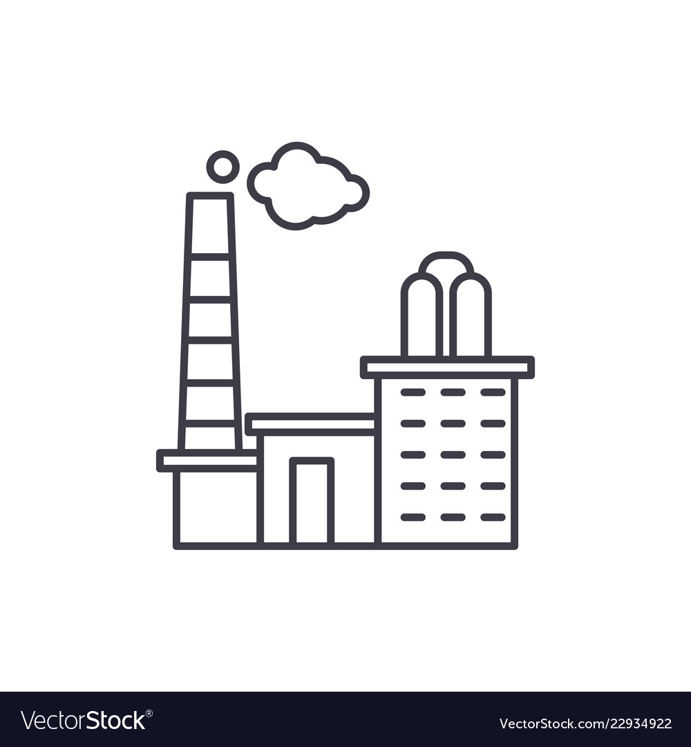 Factory vector clipart royalty free download Factory line icon concept factory linear royalty free download
