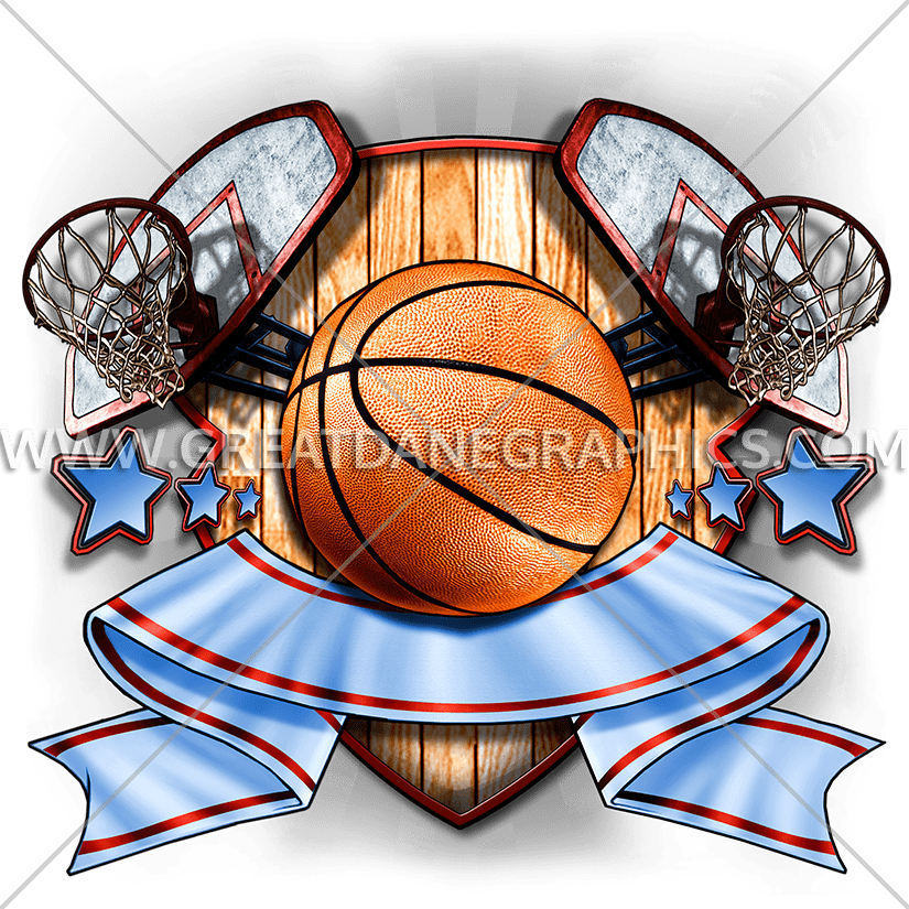 Faded basketball clipart jpg library library Basketball Crest | Production Ready Artwork for T-Shirt Printing jpg library library