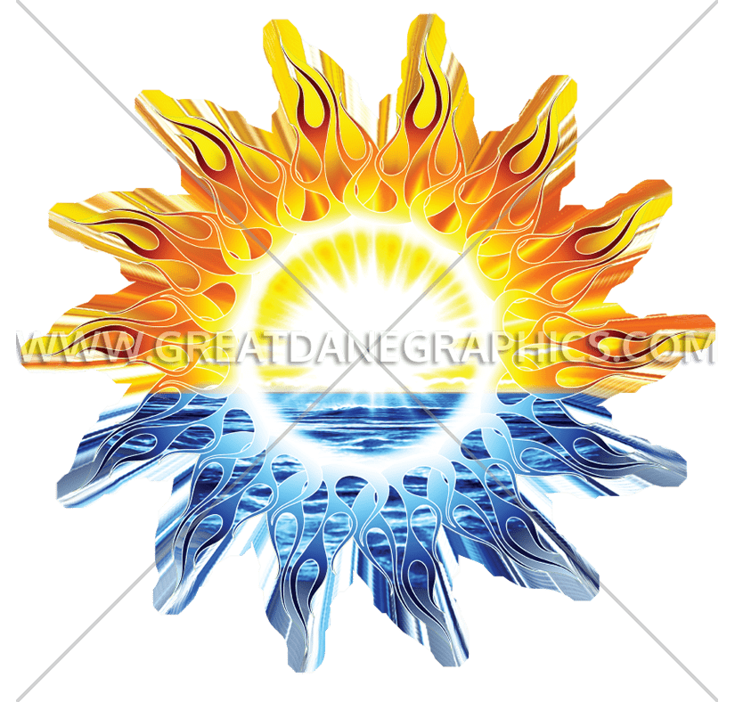 California production ready artwork. Faded sun clipart