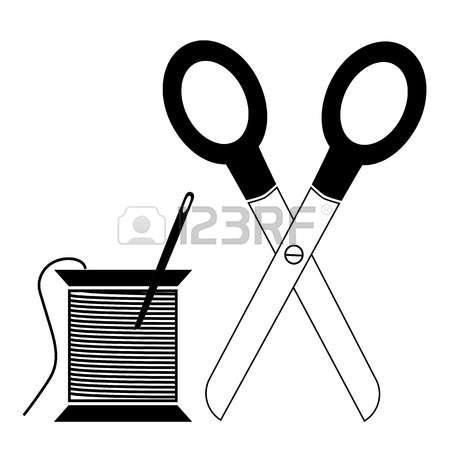 Nadel und schere clipart - ClipartFox png stock