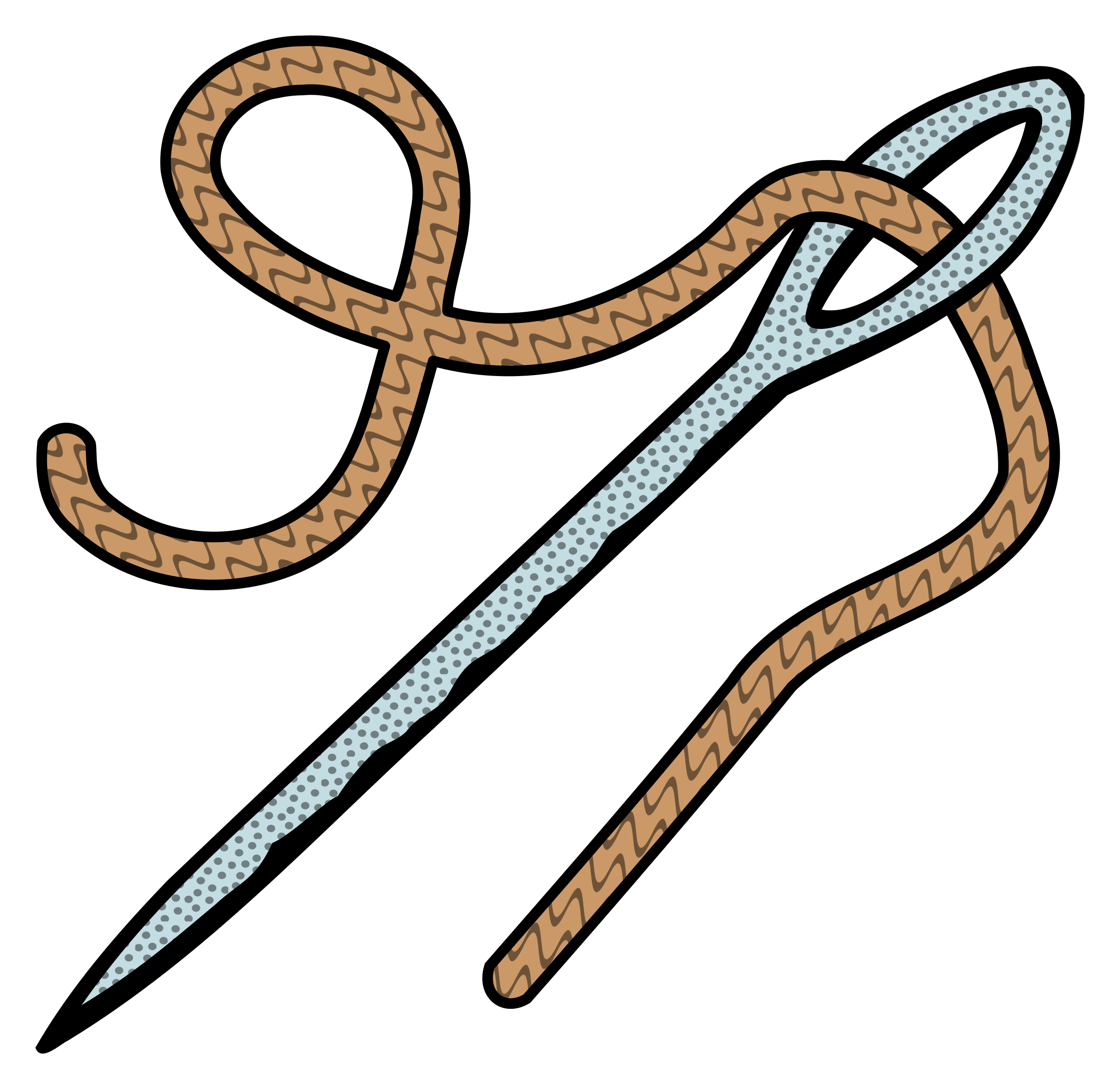 Clipart - needle - coloured png free library