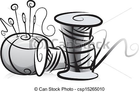 Spool Vector Clipart Royalty Free. 2,819 Spool clip art vector EPS ... image black and white