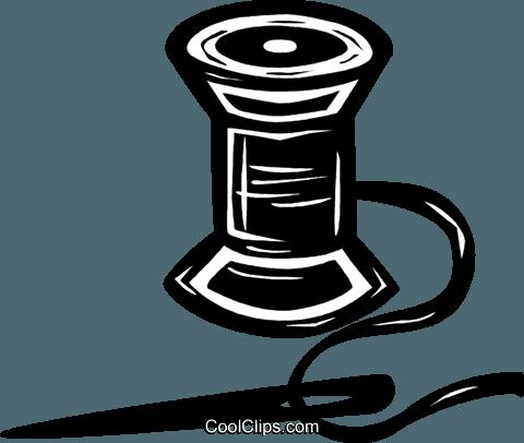 Nadel und Faden Vektor Clipart Bild -vc025345-CoolCLIPS.com jpg black and white library