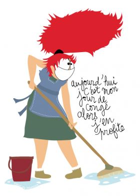 Faire le mnage clipart clip art royalty free download dessin humoristique sur un jour de congé pour une femme qui en ... clip art royalty free download