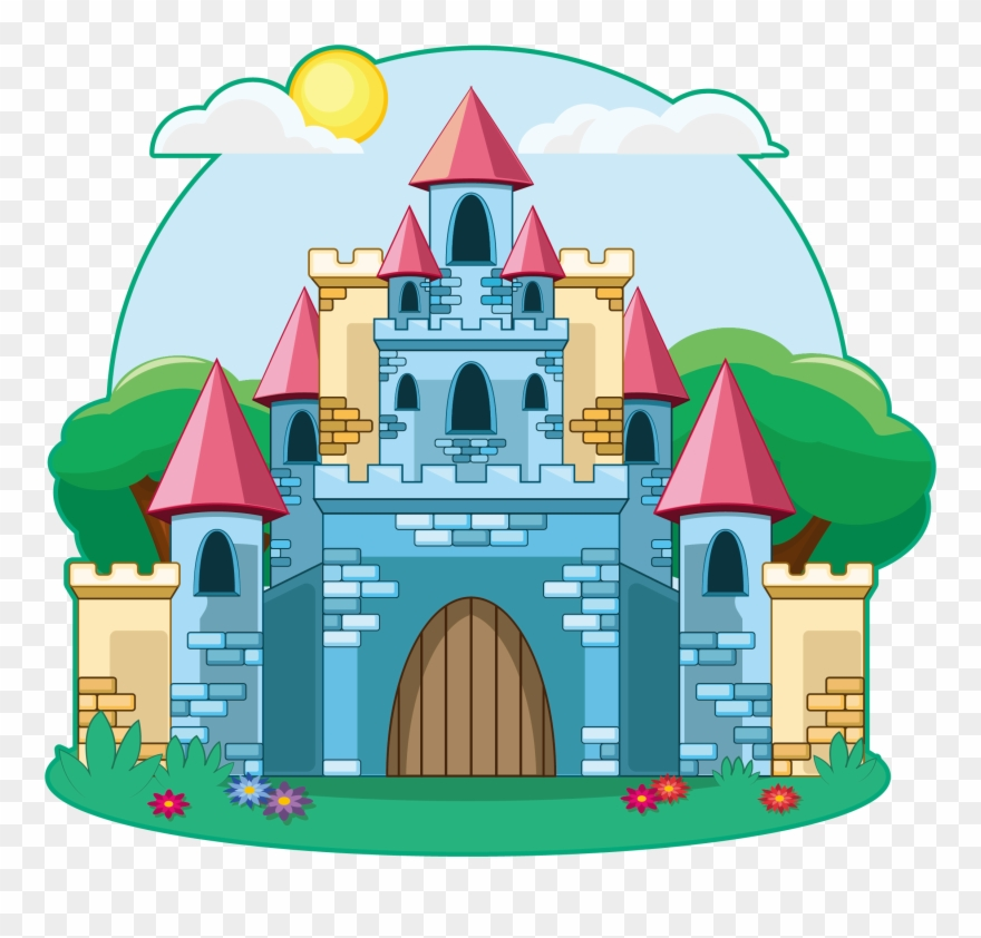 Castle cartoon clipart picture black and white library Drawing Illustration Fairy Tale - Cartoon Castle Clipart (#1784107 ... picture black and white library