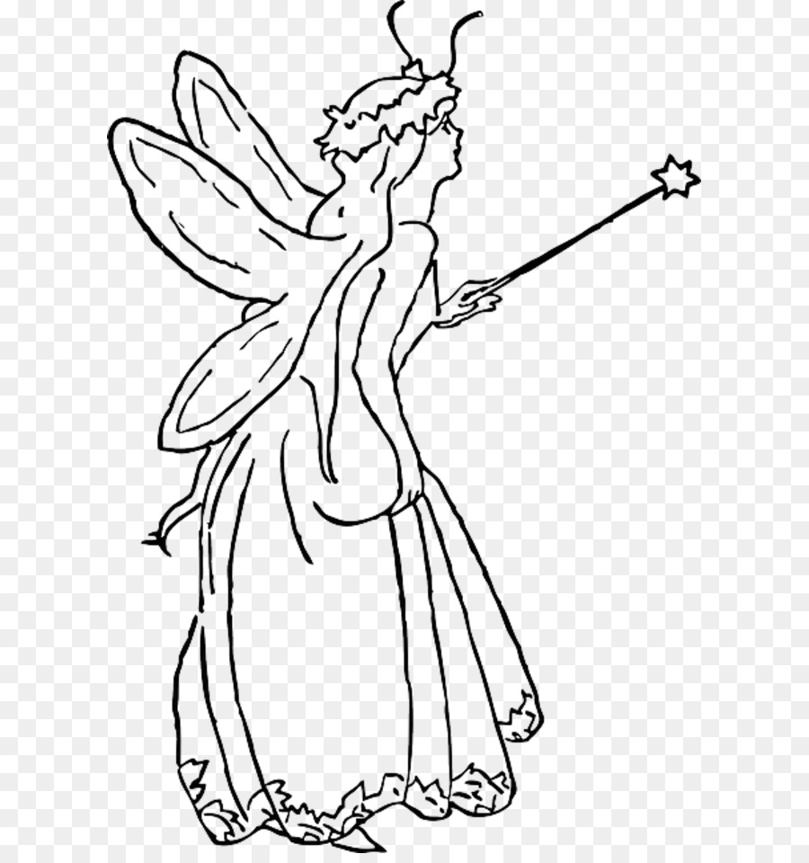 Fairy godmother black and white clipart graphic freeuse Fairy Godmother png download - 661*949 - Free Transparent Fairy png ... graphic freeuse