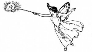 Fairy godmother black and white clipart clip art stock An illustration of a fairy godmother which can be an option for ... clip art stock