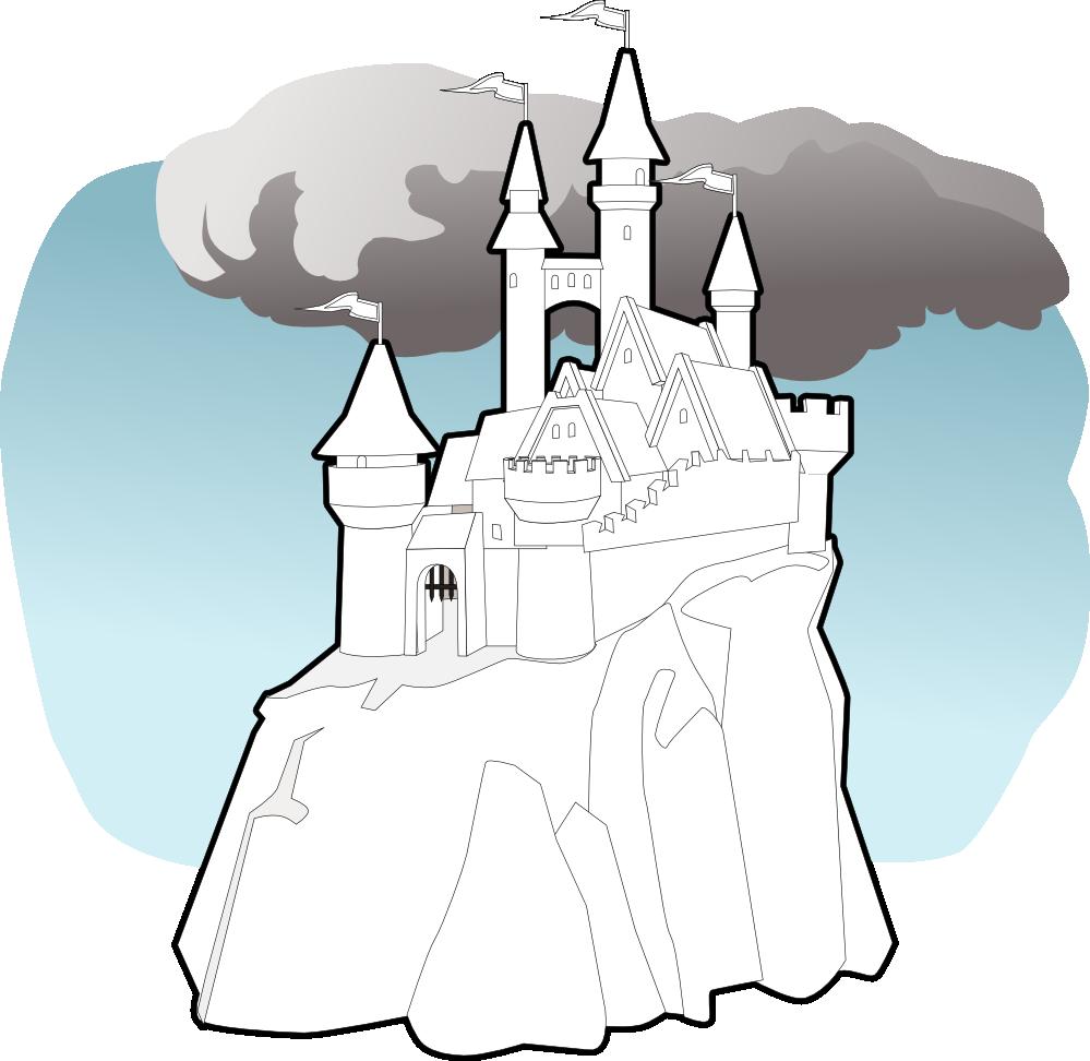 Fairy tale book clipart. Clipartist net castle black
