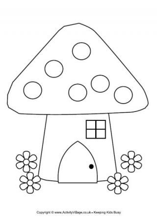 Fairy house parts clipart black and white jpg download Fairy House Colouring Page | Doodle | House colouring pages, Fairy ... jpg download