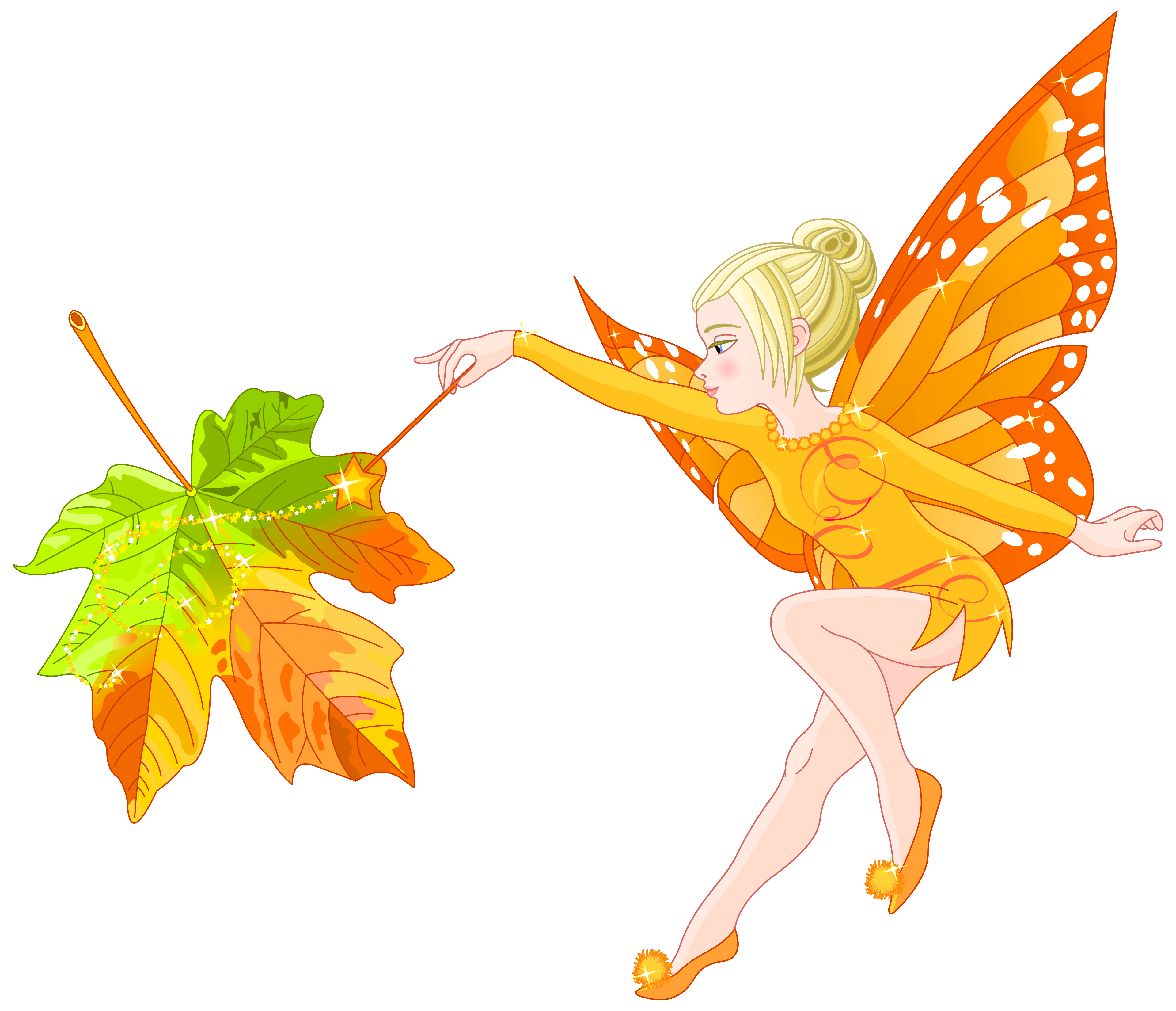 Fairy on a flower clipart clip art royalty free Autumn Fairy PNG Clipart Image   Gallery Yopriceville - High ... clip art royalty free