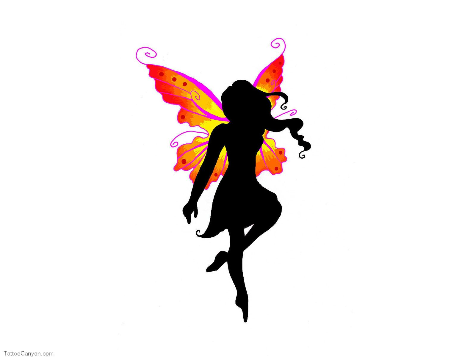 Fairy sitting on the moon blowing kisses clipart clipart royalty free Free Designs Black Fairy With Colored Wings Tattoo Wallpaper picture ... clipart royalty free