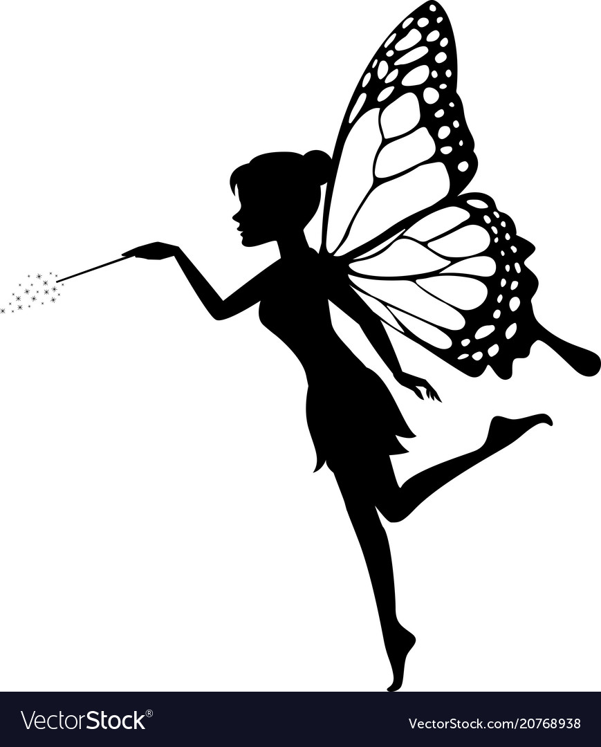 Fairy sitting on the moon blowing kisses clipart picture freeuse download Fairy waving her wand picture freeuse download