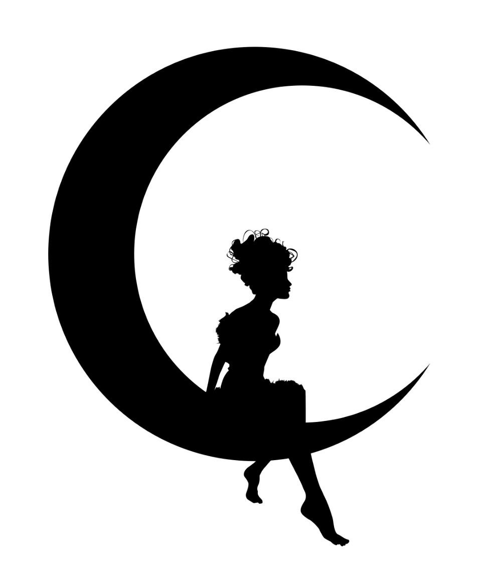 Fairy sitting on the moon blowing kisses clipart banner free library Pin by gabby cuccaro on Draw | Fairy silhouette, Silhouette clip art ... banner free library