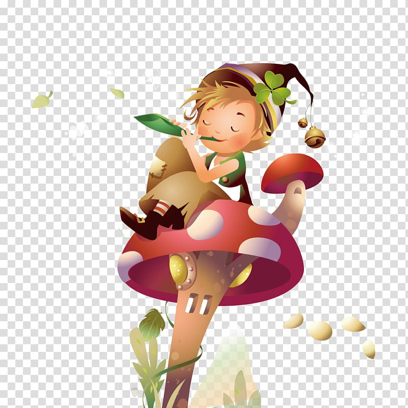 Fairy sitting on the moon blowing kisses clipart clip art library stock Desktop Fairy tale Illustration, Boy sitting on mushrooms ... clip art library stock